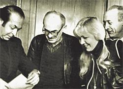 В гостях у тбилисцев. Справа—жена Ольга, слева—друг Теймураз Мамаладзе-Степанов